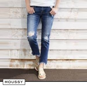 MOUSSY Vintage Fringe Cropped Skinny $395